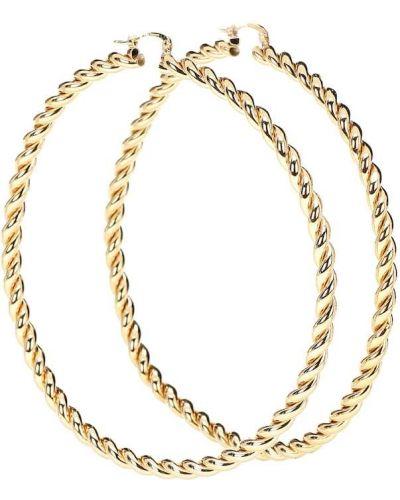 Kolczyki pierścionki kolczyki ze sztyftem złote Jw Anderson