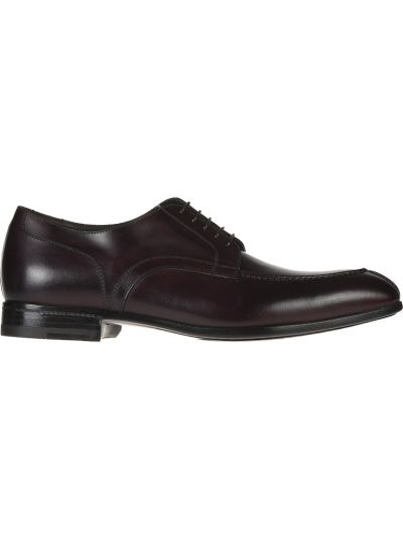 Кожаные туфли - бордовые Franceschetti