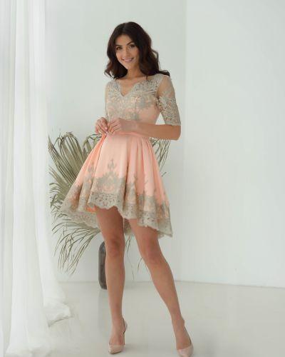 Вечернее платье золотистое Odis