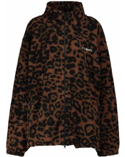 Флисовая черная куртка Vetements