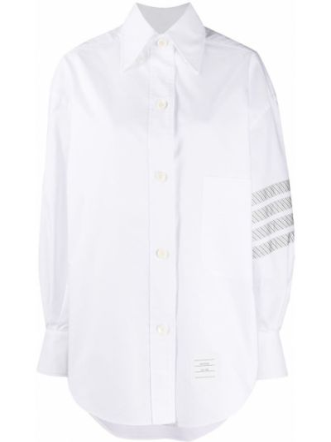 Рубашка оверсайз - белая Thom Browne