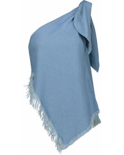 Niebieski top bawełniany Marques Almeida