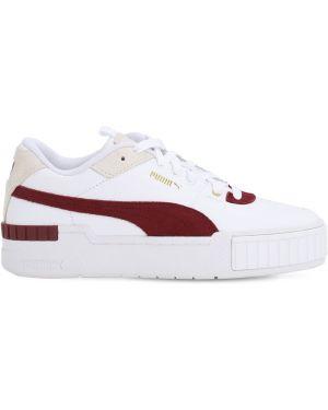 Białe sneakersy sznurowane koronkowe Puma Select