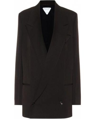 Шерстяной коричневый пиджак Bottega Veneta