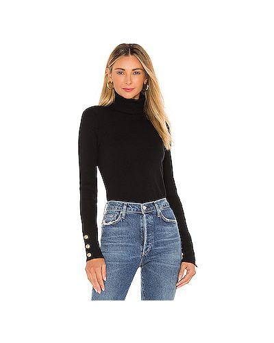 Шелковый черный вязаный свитер на пуговицах L'agence