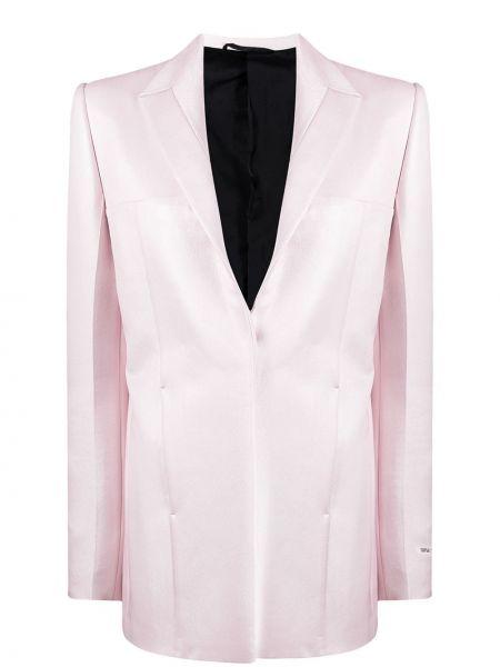 Шелковый розовый удлиненный пиджак с лацканами 1017 Alyx 9sm