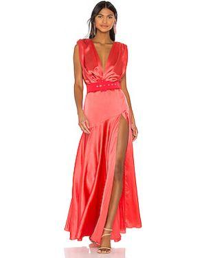 Платье с поясом на молнии сатиновое Bronx And Banco