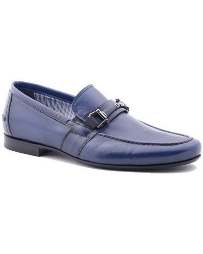 Синие туфли лаковые Fabi