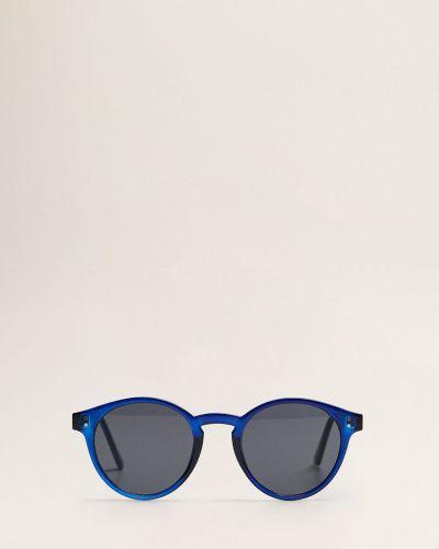 Солнцезащитные очки стеклянные круглые Mango Man
