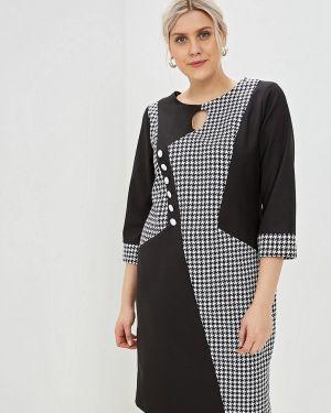 Платье прямое черное Bordo