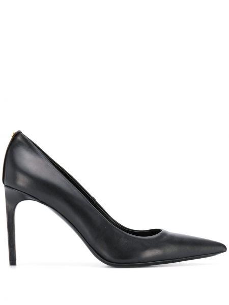 Кожаные туфли черные лодочки Tom Ford
