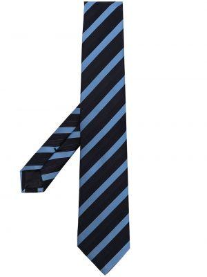 Krawat w paski - niebieski Giorgio Armani