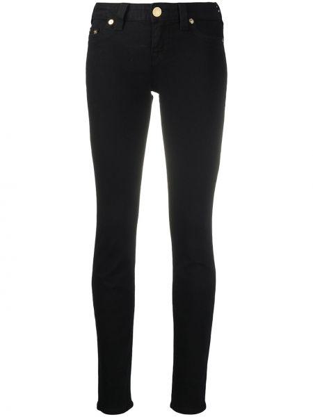 Облегающие хлопковые черные джинсы-скинни на молнии True Religion