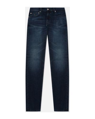 Синие хлопковые джинсы Calvin Klein Jeans