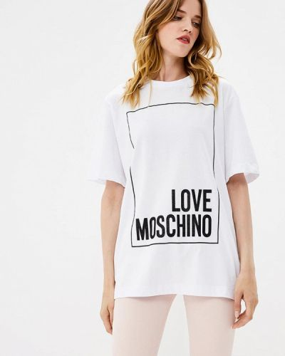 Белая футболка 2019 Love Moschino