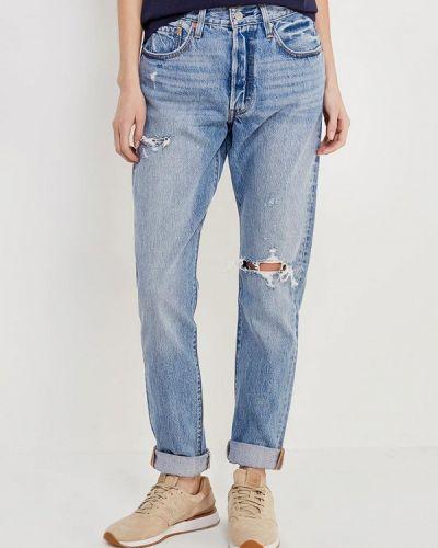 Голубые джинсы рваные Levi's®