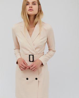 Однобортное приталенное платье мини эластичное Cardo