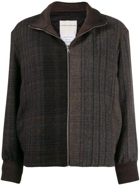 Темно-синяя длинная куртка с манжетами Stephan Schneider