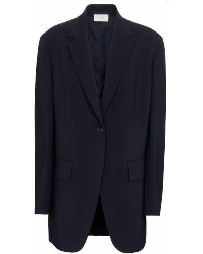 Синий пиджак из вискозы на кнопках The Row