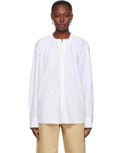 Белая рубашка с воротником с длинными рукавами Rika Studios
