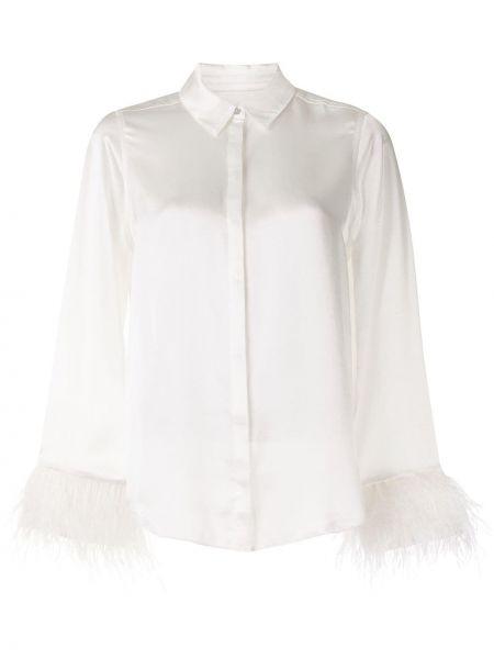 С рукавами белая классическая рубашка с воротником Cinq À Sept