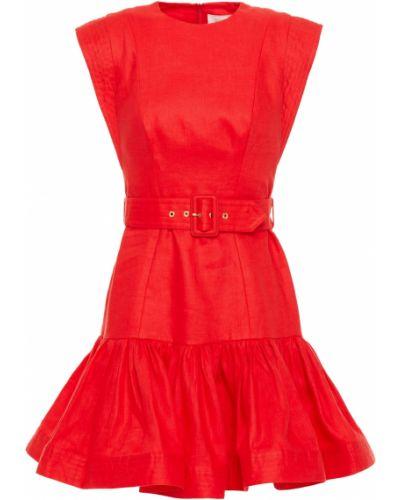 Sukienka mini rozkloszowana z paskiem Zimmermann