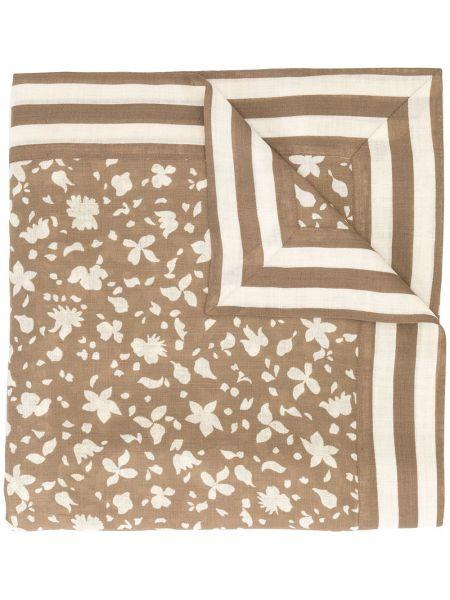 Хлопковый коричневый шарф Givenchy Pre-owned