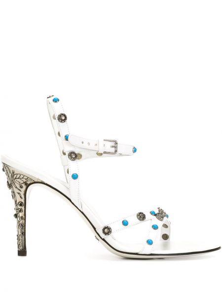 С ремешком открытые белые босоножки с пряжкой Dolce & Gabbana Pre-owned
