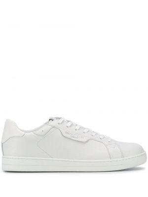 Białe sneakersy skorzane sznurowane Michael Michael Kors