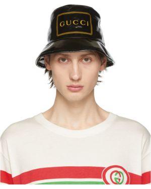 Kapelusz z logo czarny Gucci