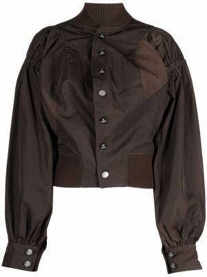 Коричневая куртка с воротником Vivienne Westwood