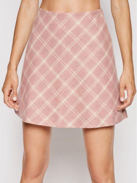 Spódnica trapezowa - różowa Samsoe Samsoe