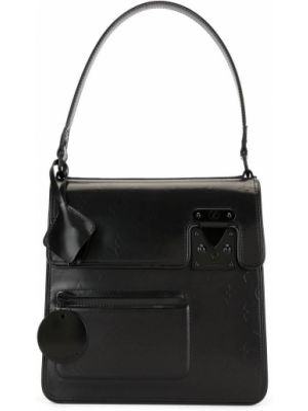 Skórzana torebka czarna z uchwytem Louis Vuitton Pre-owned