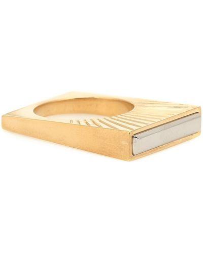 Кольцо квадратное золотое Maison Margiela