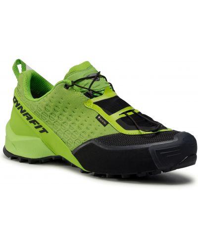 Zielone buty sportowe skorzane Dynafit