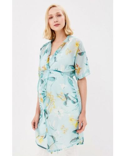 Бирюзовая блузка для беременных Mama.licious