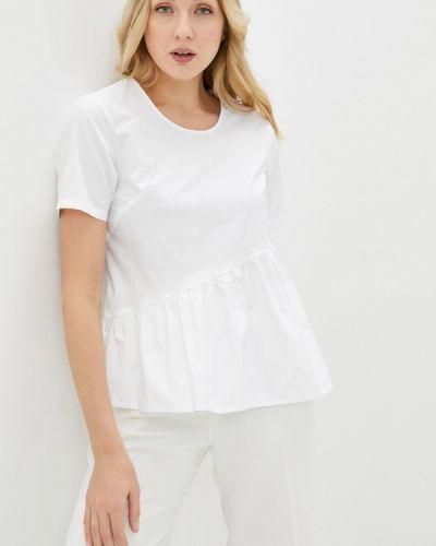Белая блузка с оборками снежная королева