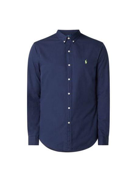 Bawełna puchaty niebieski koszula z mankietami Polo Ralph Lauren