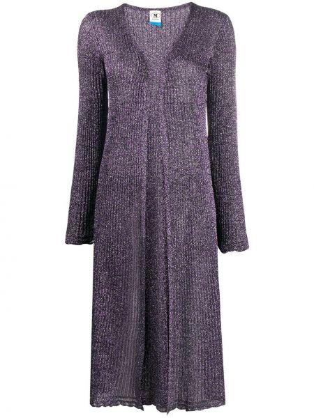 Прямое фиолетовое пальто из вискозы M Missoni
