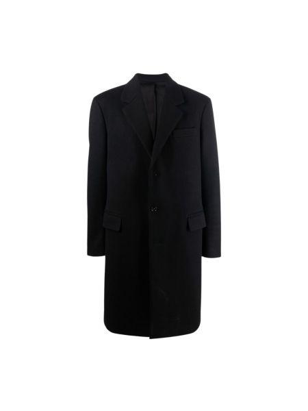 Czarny płaszcz Bottega Veneta