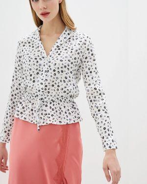 Блузка с рюшами белая Miss Selfridge