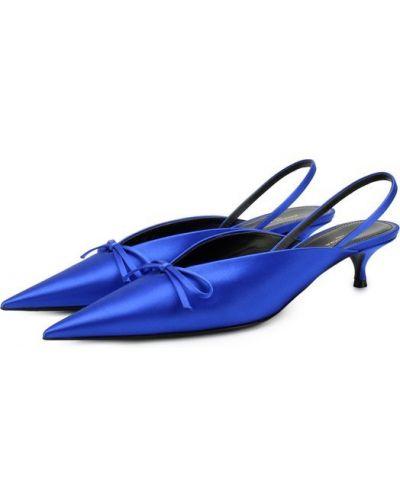 Кожаные туфли с бантом на каблуке Balenciaga