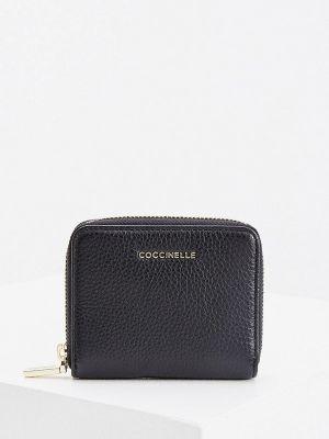 Кожаный кошелек - черный Coccinelle