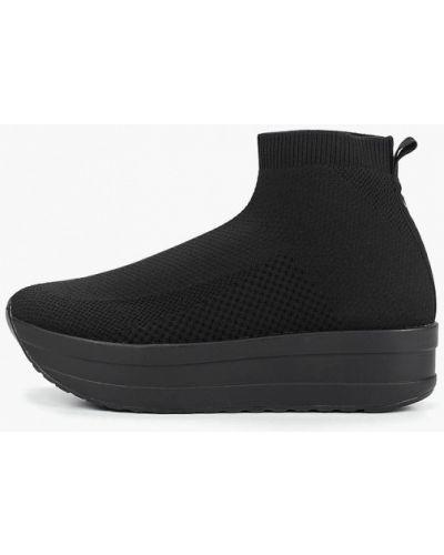 Высокие кроссовки черные Vagabond