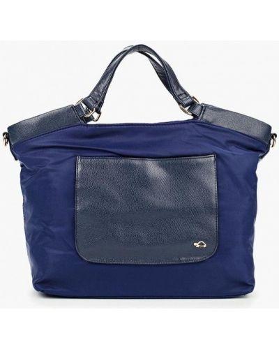 Кожаная сумка из искусственной кожи синий Carpisa