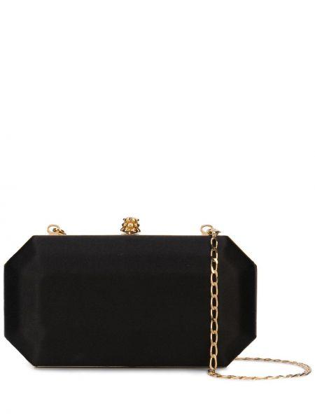 Кожаная золотистая черная сумка на цепочке Tyler Ellis