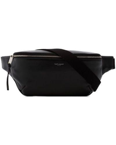Поясная сумка кожаная на молнии Saint Laurent