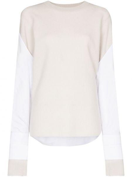 Bawełna beżowy wełniany koszula Tibi