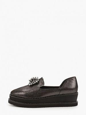 Черные кожаные туфли закрытые Ridlstep