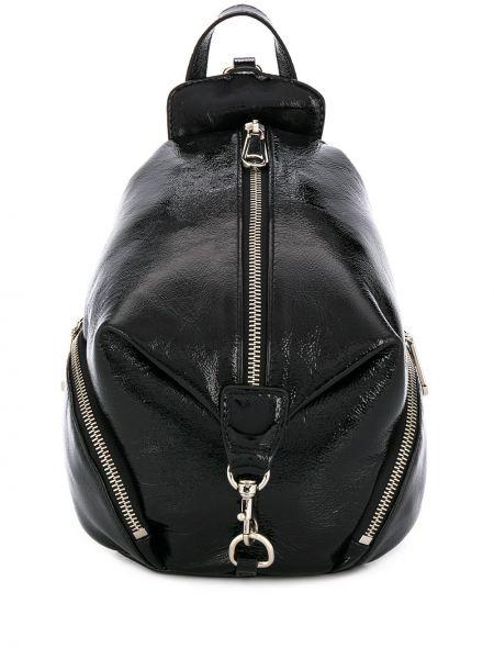 Skórzany plecak czarny okrągły Rebecca Minkoff